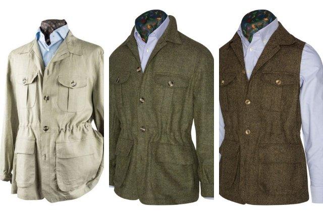 chaqueta sahariana para hombre